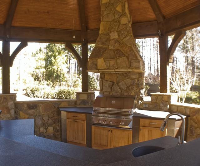 Gazebo with outdoor kitchen for Outdoor kitchen gazebo design