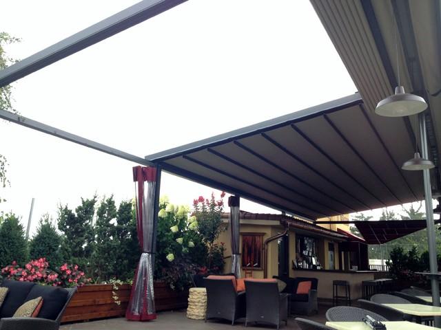 promo code 84ac4 2e3f4 Gennius Retractable Pergola Awning for Restaurant Penthouse ...