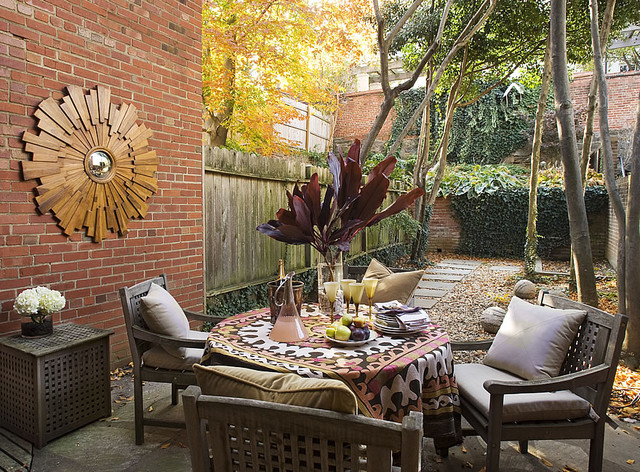 traditional patio by huntley & co