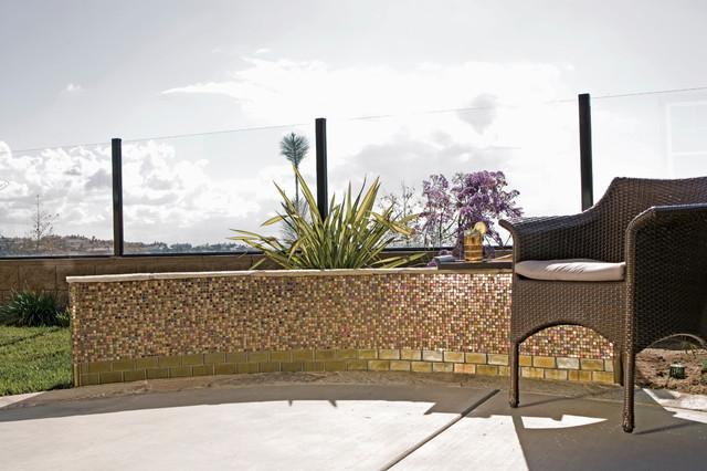 Glass contemporary-patio