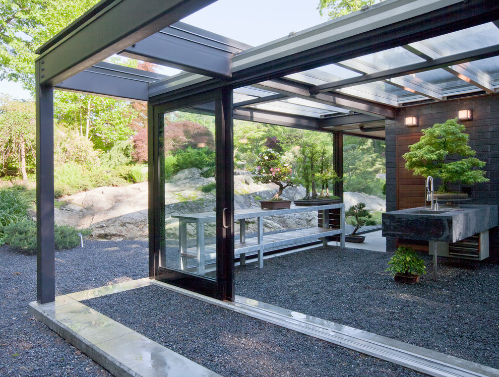 Glass House in the Garden - Modern - Patio - Boston - by ... on Backyard Patio Extension id=72293