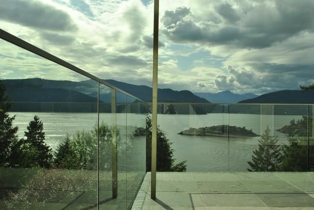 Glass Railings contemporary-patio