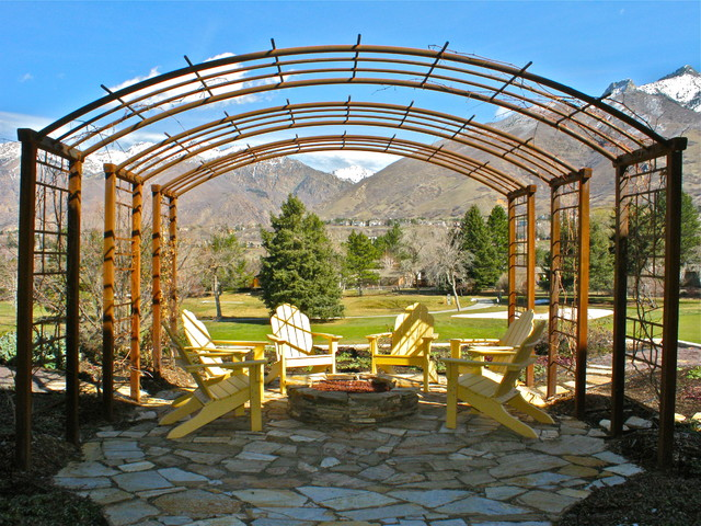 Golf course pergola for Pergola bioclimatique corse