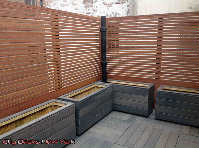 Gramercy Park Composite Roof Top Fence Deck