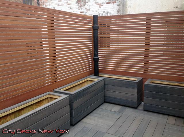 Gramercy Park   Composite Roof Top Fence U0026 Deck Contemporary Patio