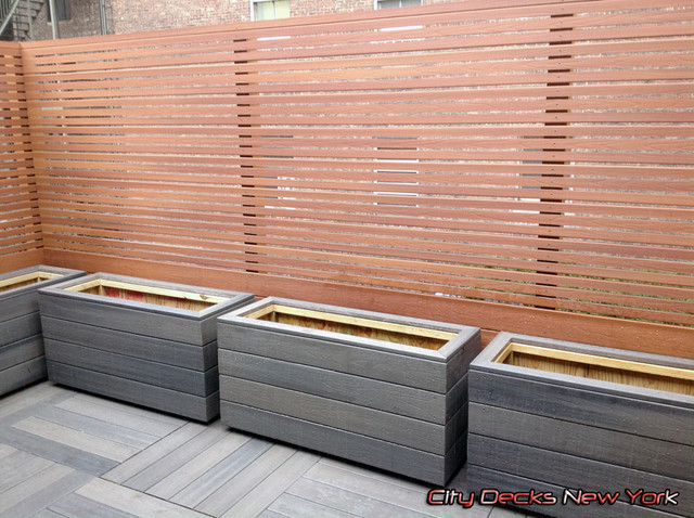 Beau Example Of A Trendy Patio Design In New York