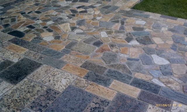 Charmant Granite Pavers Traditional Patio