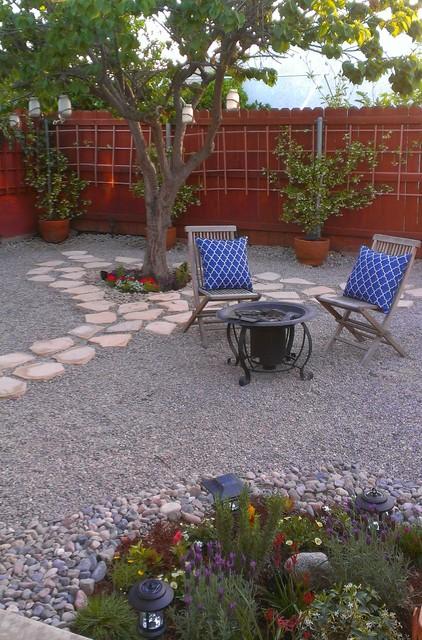 Gravel Garden Mediterranean Patio Los Angeles By