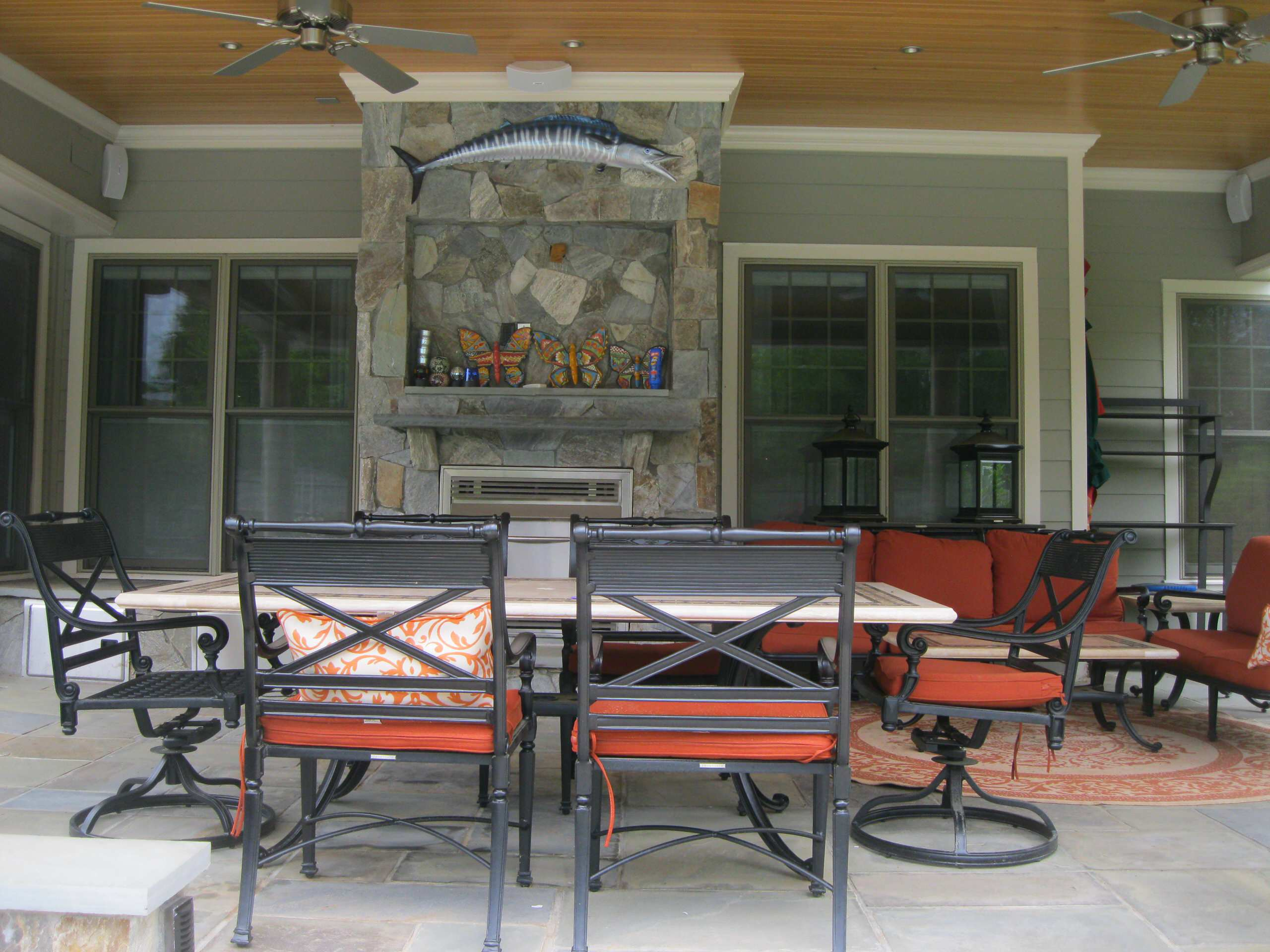 Great Falls master plan covered pavilion with outdoor kitchen