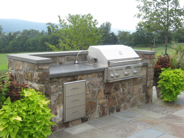Grill modern patio dc metro by poole 39 s stone and for Garden pond grills