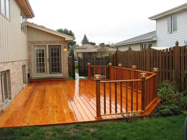 Ground Level Deck Contemporary Patio Chicago By