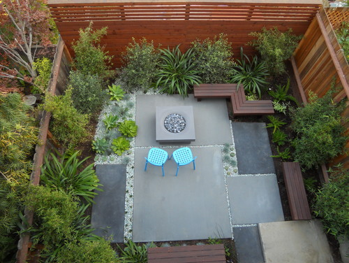 contemporary patio from above
