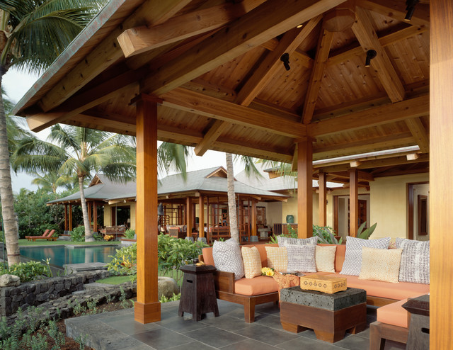 Etonnant Inspiration For A Tropical Patio Remodel In Hawaii With A Gazebo