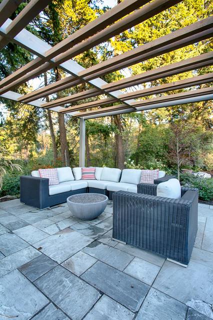 Hall Renovation transitional-patio