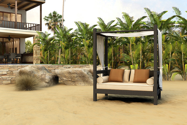 Elegant Hampton Canopy Day Bed By Forever Patio Contemporary Patio