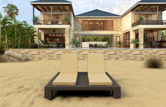Hampton Outdoor Wicker Double Chaise Lounge by Forever Patio contemporary-patio