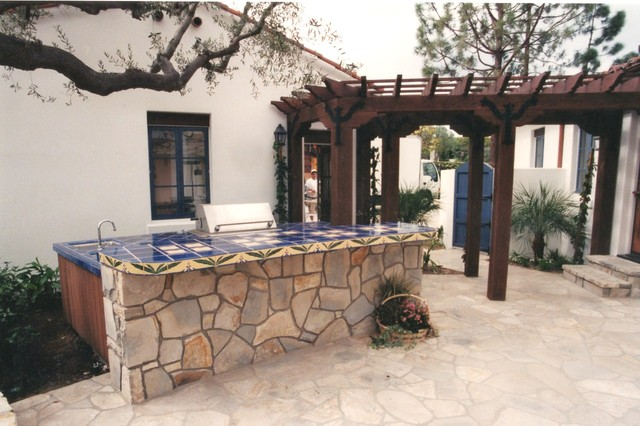 Hand Painted Tile traditional-patio