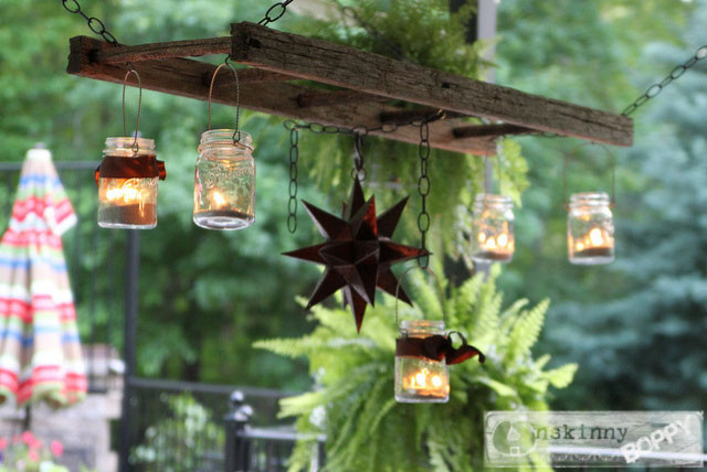 Hanging Ladder Lantern Chandelier for the Patio traditional patio