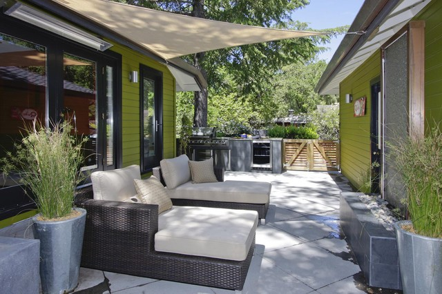 patio shade sail | houzz - Patio Shade Ideas