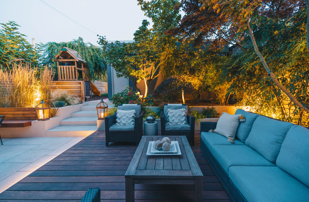 Patio - mid-sized modern patio idea in Vancouver