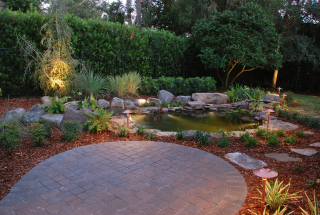 Hatton koi pond tropical patio other by hortus oasis for Balcony koi pond