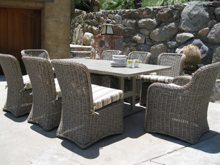 Hauser Coastal All Weather Wicker Dining Collection