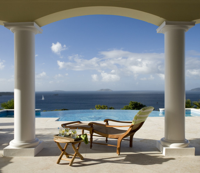 Hawksview, St. John, USVI tropical-patio