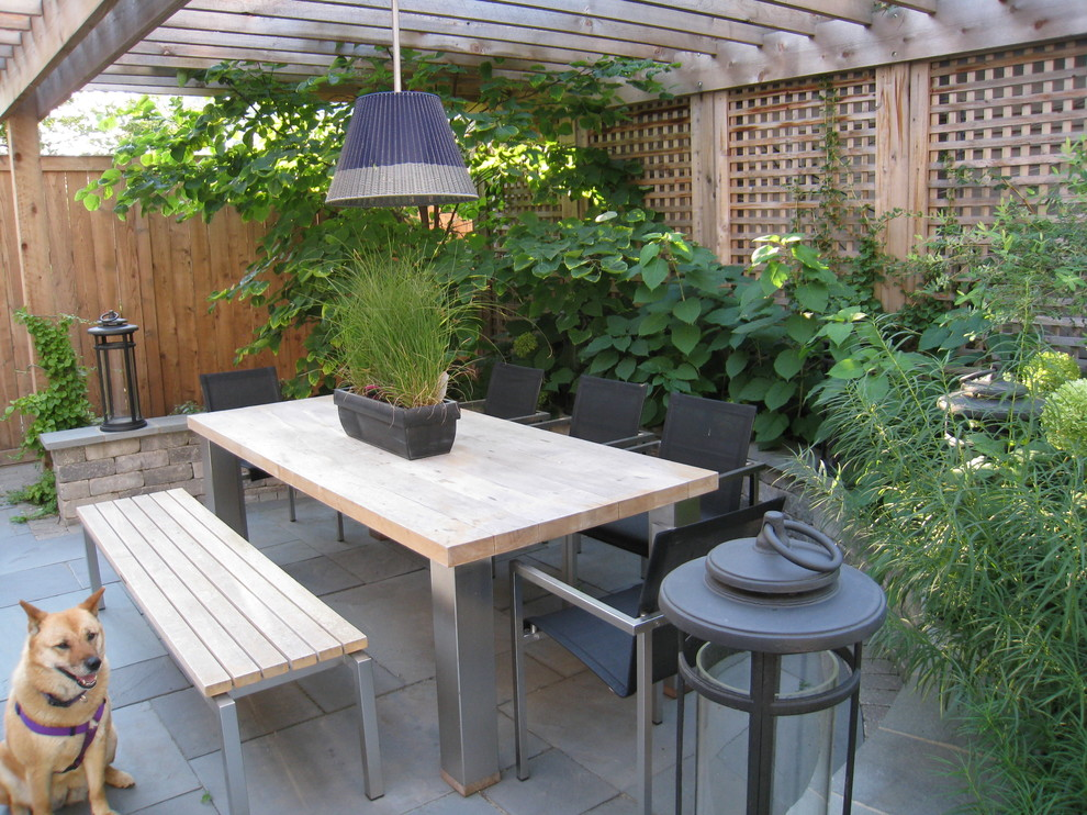 Example of a trendy patio design in Chicago