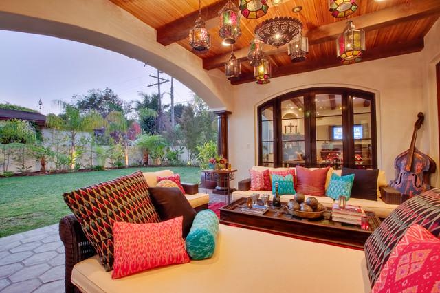 Hermosa Beach Mediterranean Moroccan Interior Design Patio Los Angeles