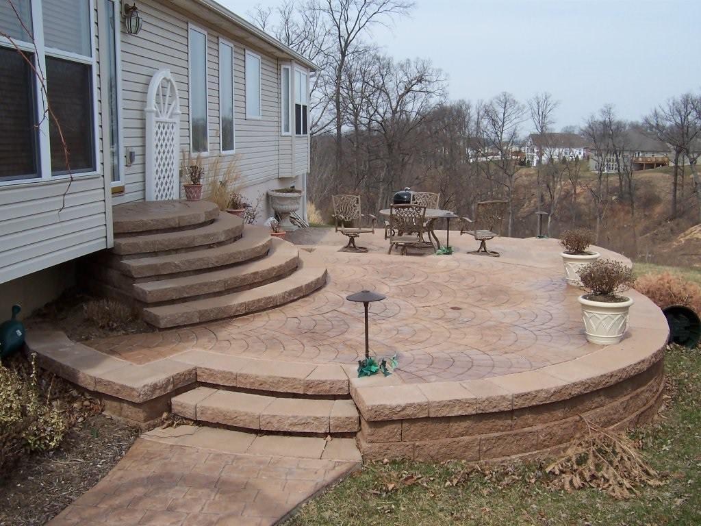 High Ridge, Missouri Multi-Teir stamped concrete work