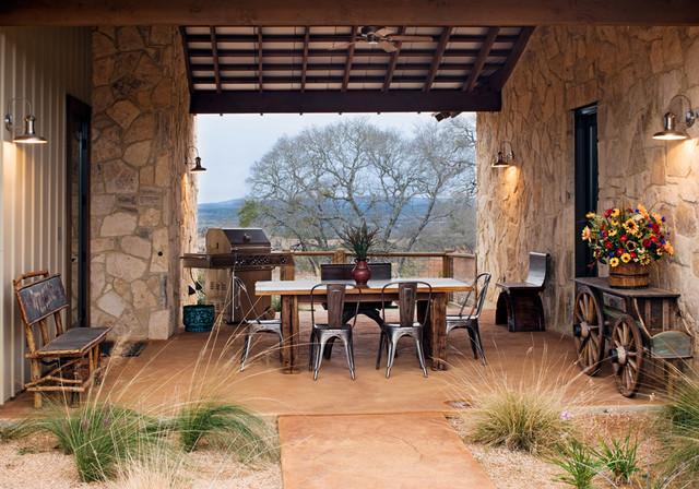High Ridge Ranch Rustic Patio Austin By Burleson