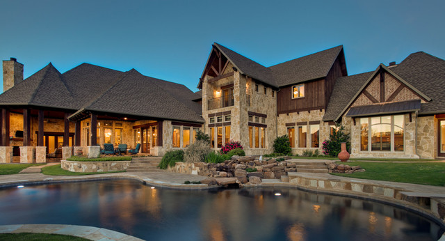 Hill Country Backyard Oasis Traditional Patio Dallas