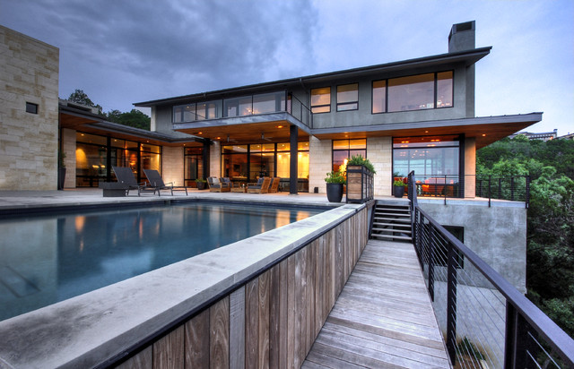 Hill country residence modern patio austin by for Hill country architects