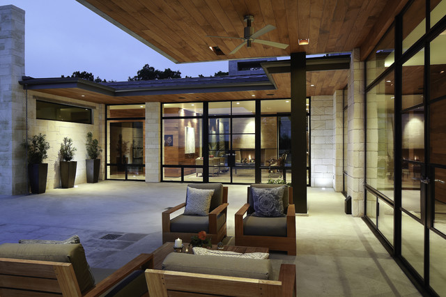 Hill country residence modern patio austin by for Hill country contemporary architecture