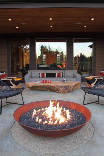 Hill residence contemporary-patio