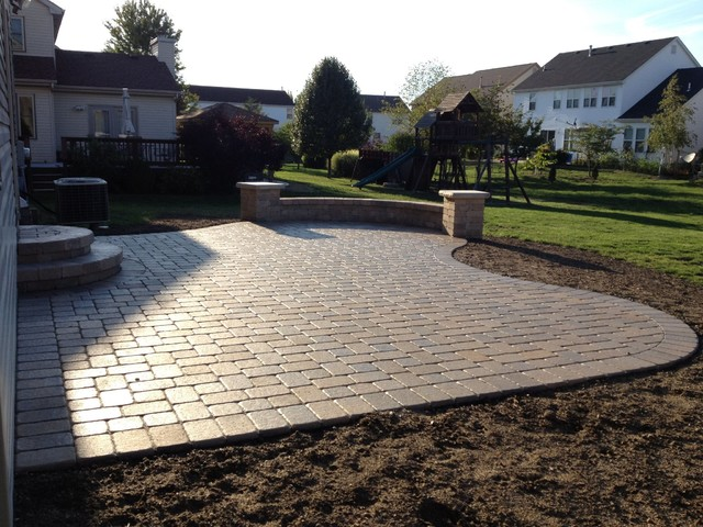 pavers patio ideas paver boundary patio hilliard ohio paver patio contemporary patio - Patio Brick Designs