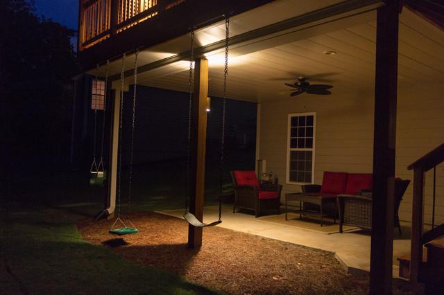 Holly Springs GA House And Yard Lighting Project Modern Patio Atlanta