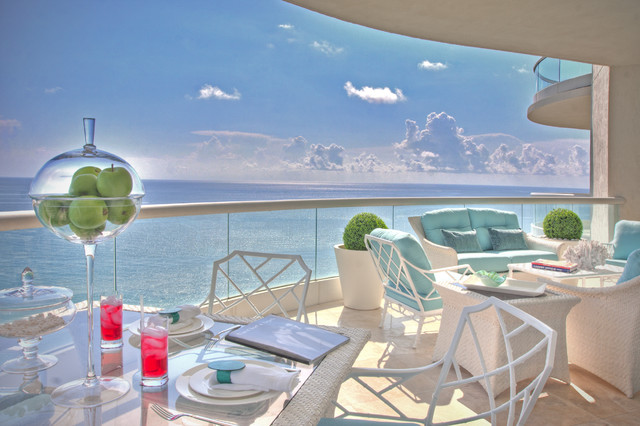 Hollywood Regency- Turnberry Ocean Colony Sunny Isles, Fl eclectic patio