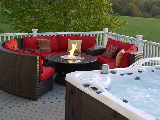 Homeowner's Deck in Germantown, Maryland. traditional-patio