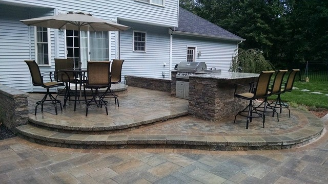 Hooksett Nh Pool Patio Fire Pit Outdoor Kitchen