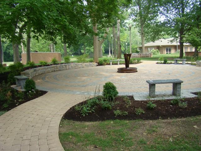 Hospice of Dayton Paver Labyrinth traditional-patio