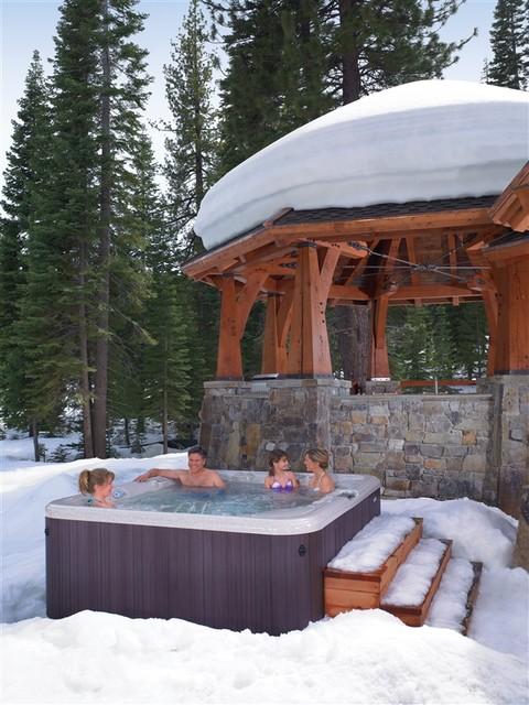 Hot spring backyard ideas traditional patio san for Spa patio designs