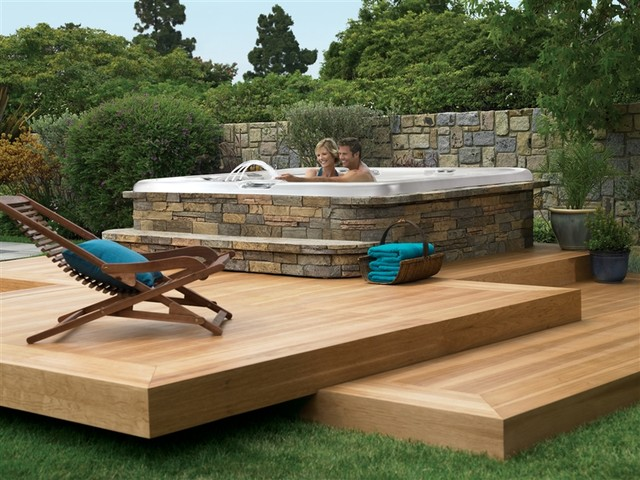 hot spring deck design contemporary patio - Spa Patio Ideas