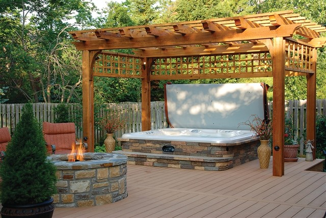 Hot spring deck design traditional patio san diego for Hot tub designs and layouts
