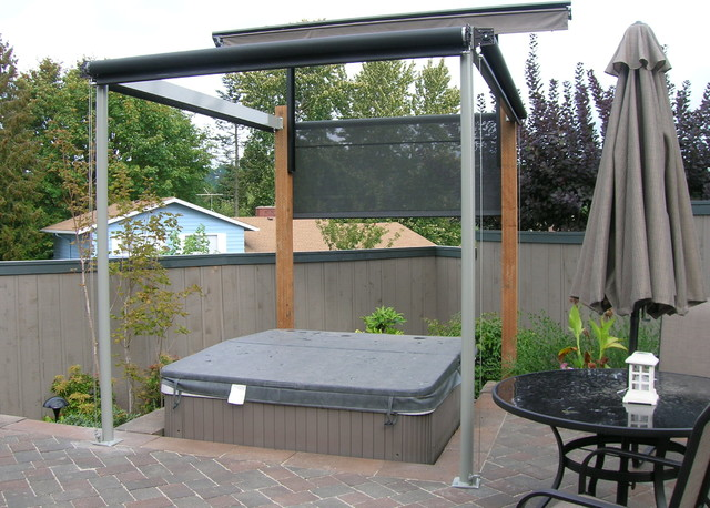 Hot Tub Cover And Privacy Screens Traditional Patio