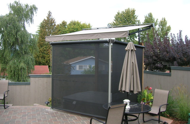 Nice Hot Tub Cover And Privacy Screens Traditional Patio