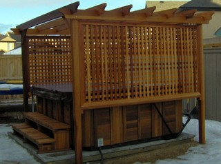 Hot Tub Enclosures - Patio - Calgary - by T & T Woodworks LTD