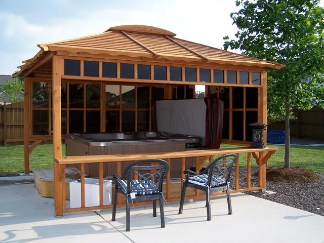gazebos craftsman patio other by forever redwood. Black Bedroom Furniture Sets. Home Design Ideas