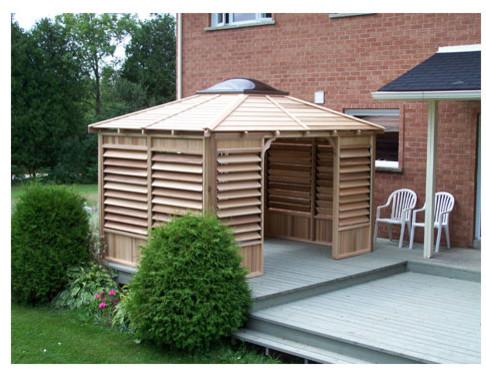 Hot Tub Spa Enclosure Using Flexfence Transitional