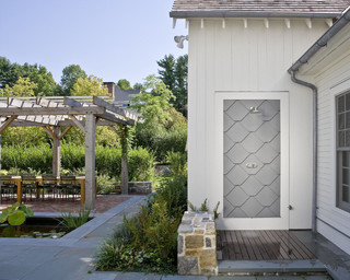 House In Darien Farmhouse Patio Other Metro By